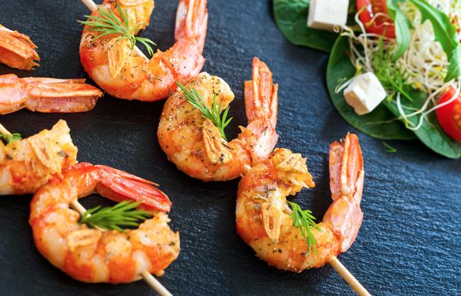 Chorizo Shrimp Stacks Recipe