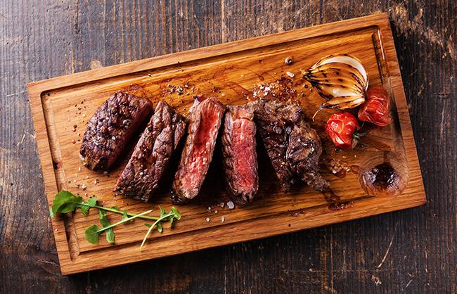 Grilled Steak with Zinfandel Mushroom Sauce Recipe