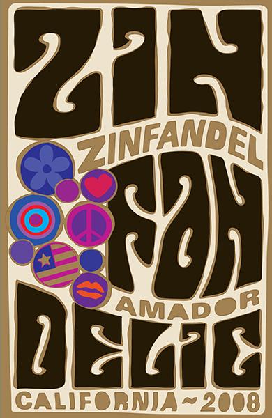 2008 Amador County Old Vine Zinfandel - label