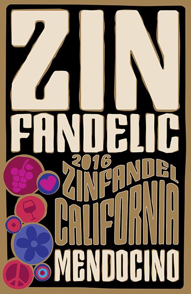 2016 Mendocino Zinfandel - Label