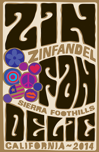 2014 Sierra Foothills Old Vine Zinfandel - Label