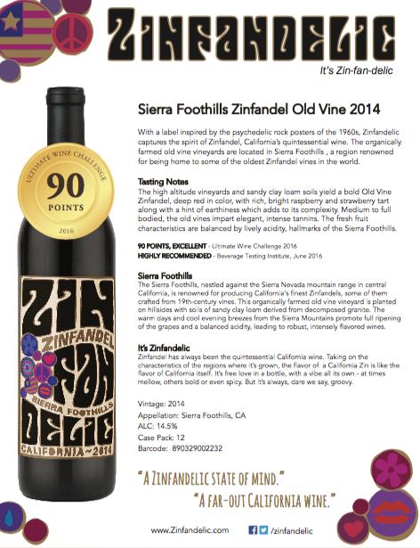 2014 Sierra Foothills Old Vine Zinfandel
