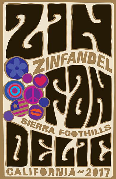 2017 Sierra Foothills Old Vine Zinfandel - Label